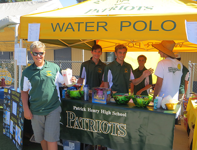 The Patrick Henry High School Water Polo team assisted with the Craft Fair in early October. (Courtesy Sue Hotz)