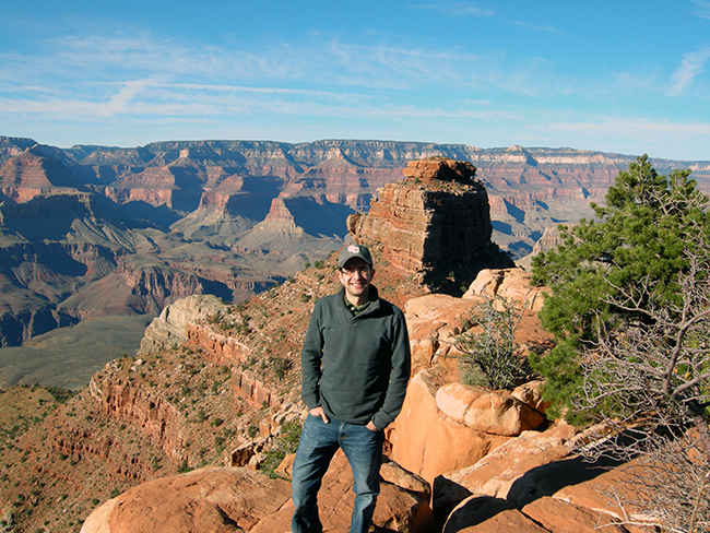 Davin Widgerow, pictured at the Grand Canyon, will speak at the La Mesa Democrats' Jan. 7 meeting. (Courtesy Davin Widgerow)