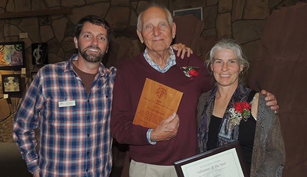 Left to right, SDAS Executive Director Chris Redfern with Wayne Harmon, Lifetime Achievement Award Winner and Lisa Heinz, Volunteer of the Year Award winnerwebtop