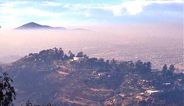 Air pollution was a lot worse in 1971 when this photo was taken at Mt. Helix (Photos by Philip Pryde)