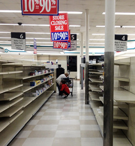 A look inside the Allied Gardens Albertsons shortly before its closing (Photo by Jeremy Ogul)