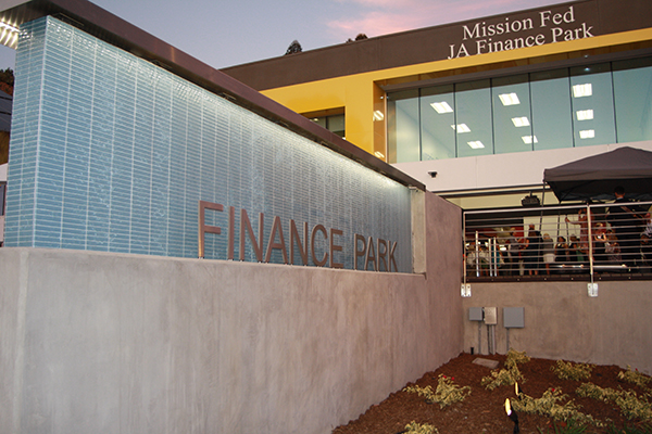 The new Junior Achievement Finance Park uses high-tech simulations to teach financial literacy. (Photo by Jeff Clemetson)