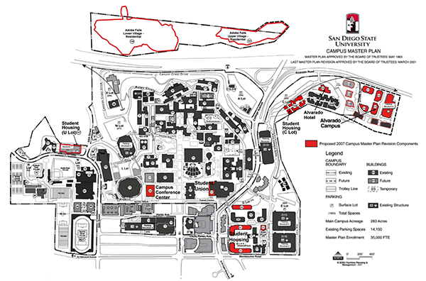 A map of SDSU's proposed Alvarado campus. (Courtesy of San Diego State University)