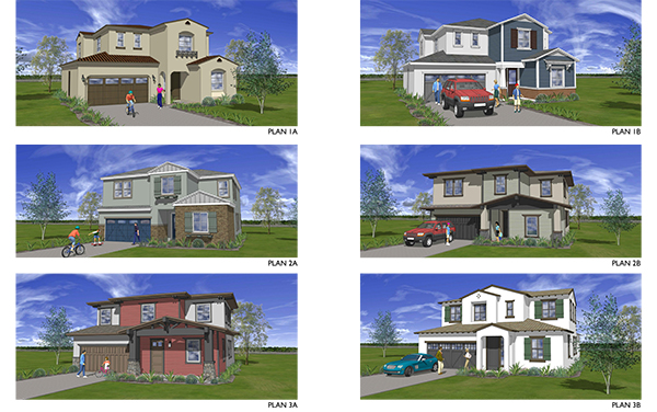 Conceptual drawings of the single-family homes that will occupy the Cleveland Elementary school site. (Courtesy of the Atlantis Group)