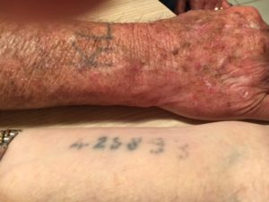 The Shindlers' concentration camp tattoos