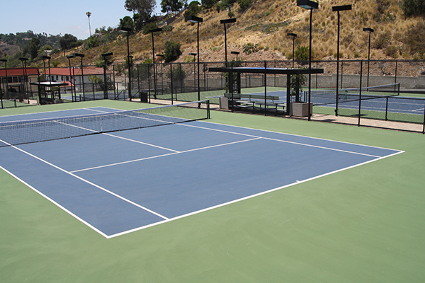 The Del Cerro Tennis Club has four newly refurbished courts. (Photo by Jeff Clemetson)