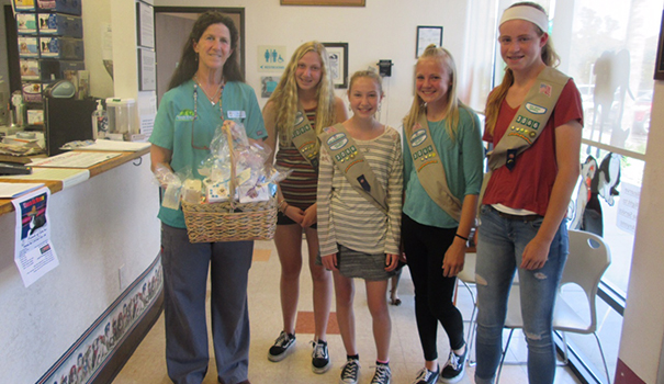 Girl Scouts engage community with pet grief boxes and GaGa courts