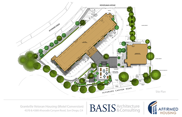 The layout of the veterans housing project (Courtesy of Affirmed Housing)