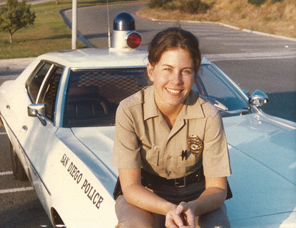 Janet Chelberg-Burgess was one of the first female police patrol officers in San Diego. (Courtesy of Janet Chelberg-Burgess)