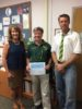 (l to r) Carrie Rea, Jim Achenbach, and Henry Vice Principal Bill Miller (Courtesy of PHHS)