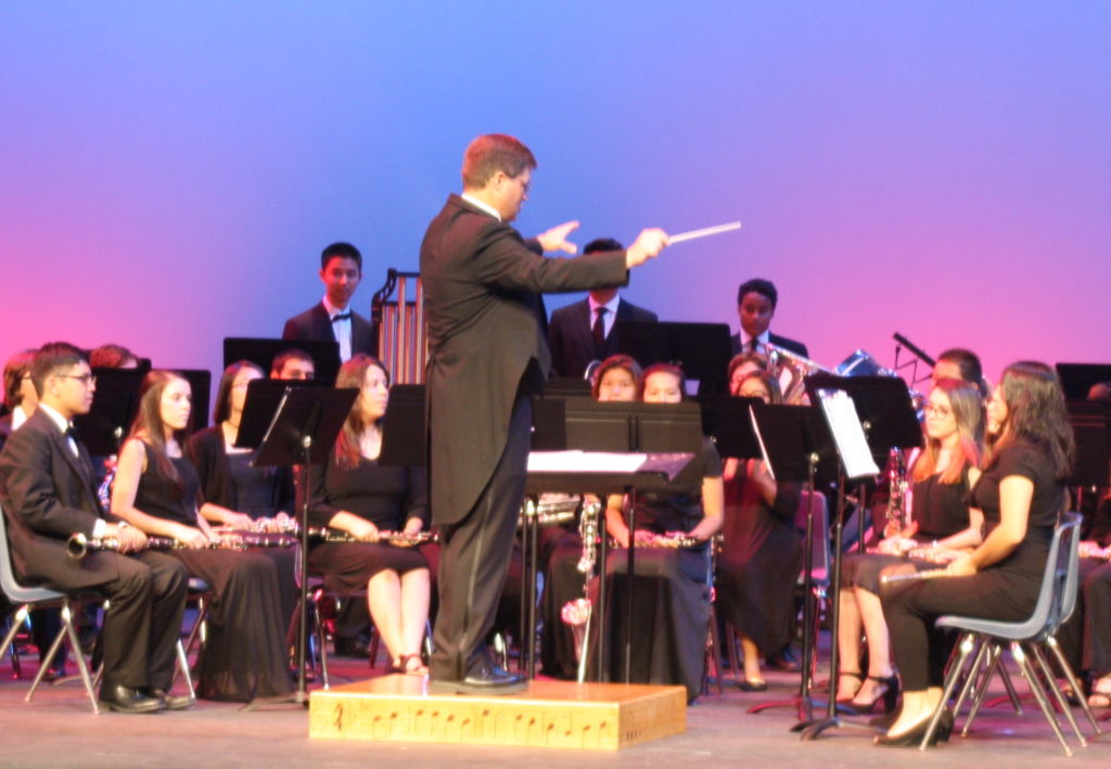 Matthew Kalal conducts the Patrick Henry High School band  (Photos by Jeff Clemetson)
