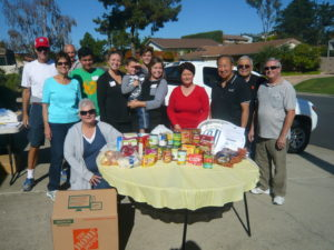 Del Cerro residents made the Kaiser Thanksgiving Food Drive a success. (Courtesy of Kassy Kaiser)