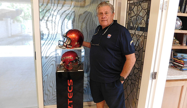 Football star to family business man