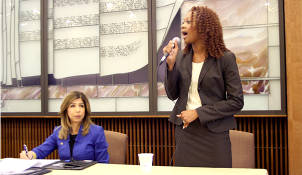 Law and order candidates square off